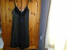 Cute black 2 layer floaty strappy empire line dress, OASIS, size 10