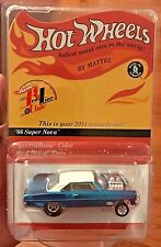 Hot Wheels 2014 Red Line Club RLC Rewards Blue/White '66 Super Nova Gasser/10200