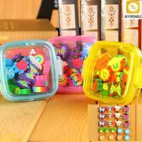 Cute Rubber Eraser Kawaii School Supplies Stationery For Kids Children With Box