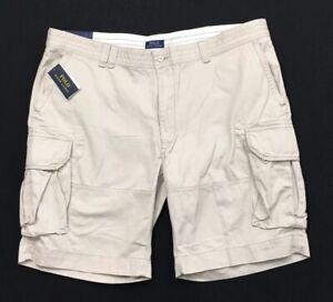 Men's POLO RALPH LAUREN Light Khaki Cargo Shorts 48B 48 New *MINOR FLAW*