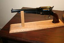 "16"" Solid Oak Wood Cap & Ball. SAA or DA  Revolver Pistol Display Gun Stand"