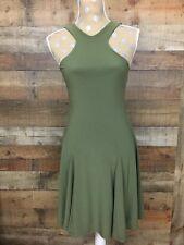 Lauren Ralph Lauren Petite Dress Sleeveless Halter Green PXS Flare NWT Lined