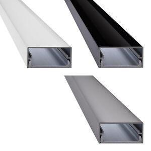 Design TV Alu Kabelkanal in Aluminium weiß schwarz silber - Modell Big Square