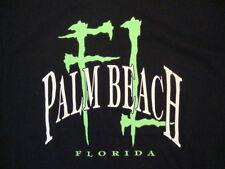 Palm Beach Florida FL Sand Surfing Vacation Souvenir Black T Shirt L