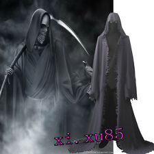 Popular Grim Reaper Cosplay Costume Customize Full Suit Robe Top Pants Halloween