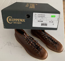 "Chippewa 6"" Lace Toe Wedge  Boots Made in USA Eu44,5/10 (UK) RRP £380 Vibram"