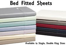 Luxurious Percale Cotton | Single | Double | King | Size Bed Fitted Sheets New