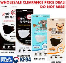 10PCS KF94 Face Mask Made in Korea Medical Respirators Protective Cover Good Day