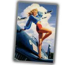 "Woman PinUp Girl Poster Sexy Nice WW2 Photo Glossy ""4 x 6"" inch Y"
