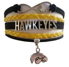 University of Iowa Hawkeyes College Infinity Bracelet Jewelry Wristband