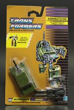 1986 Hasbro Transformers G1 Combaticons BRAWL tank in Sealed card MOSC Bruticus