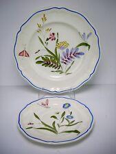 Longchamps Libellule Dragonfly Dinner and Salad Plate Peint A La Mein