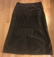 Style & Co. Brown Suede Leather Straight Pencil Skirt Lined Sz 16 EUC