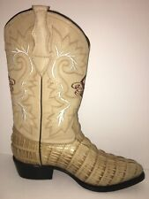 MEN'S WESTERN COWBOY CROCODILE PRINT EMBOSSED LEATHER BOOTS BOTAS HAND MADE