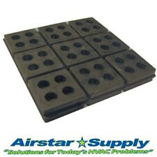 """(9) 2"""" x 2"""" x 3/4"""" Anti Vibration Pads • Heavy Duty All Rubber Isolation Pad"""