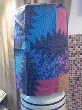 #43, 5 Gal Gallon Water Cooler Cover ~Quilt Style, Blue, Gold, Teal, Purple Pink