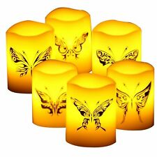 Candle Choice 6 PCS Real Wax Flameless Candles with Timer, Pillar Candles