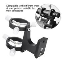 Adjustable Pointer Finderscope Laser Bracket Aluminum Alloy for Telescope Black