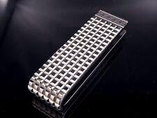 Auth Louis Vuitton Silver-tone Pince A Billets Digit Money Clip S414
