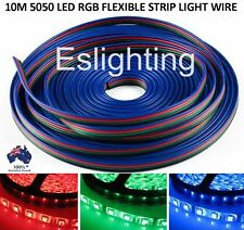 10M 4-PIN RGB LED STRIP LIGHT EXTENSION CONNECTOR WIRE CABLE CORD 5050 3528