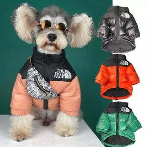 The Dog Face Jacket Warm Puffer Waterproof 4 Colour Puppy Coat Fashion Quality
