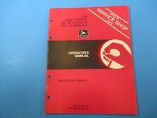 John Deere Operators Manual Om-E66106 230 Auger Platform Hay Conditioners M5112
