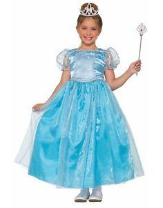 Lady Blue Princess Girls Child Fairytale Royal Halloween Costume-S