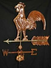 Rooster Weathervane Polished Copper Finish  Brass Directionals Free Roof Mount