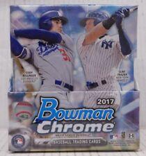 2017 BOWMAN CHROME BASEBALL HOBBY BOX - 12 Packs, 2 Autos - Factory-Sealed - NEW