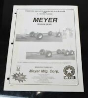 Meyer Wagon Gear 04-02-X-Series Operators Owner Parts Manual for X-Series Wagons