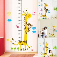 Kids Decoration Height Chart Decor Wall Sticker Height Measure Giraffe Cartoon