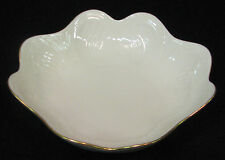 Lenox 7 inch candy dish with a ruffled rim & embossed design gold trim on rim