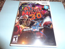 Attack of the Movies 3D  (Wii, 2010) NEW INCLUDED 4 PAIRS OF 3-D GLASSES