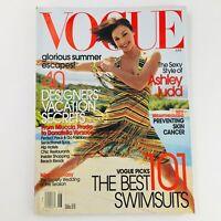 Vogue Magazine June 2002 American Actress Ashley Judd, No Label VG