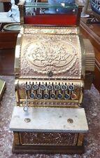 Antique NATIONAL CASH REGISTER Solid Brass Model 317.Paper certif on drawer.1915