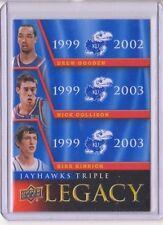 2013 Upper Deck Kansas Jayhawk Legacy Trios #JLT5 Gooden / Collison / Hinrich SP