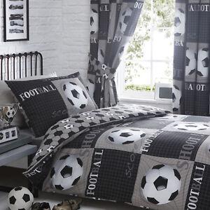 Football Bedding Range Black Choose Duvet Sets or Curtains
