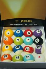 Cyclop Zeus Tournament TV Pro Set Pool Billiards Balls CBSA Official Match Ball