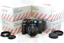 *ULTRA SET* Mamiya 7 II Black Film Camera + 43mm 50mm 65mm 80mm 150mm Boxed