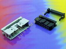 KIT IDC 16 ( 2 x8 ) polig/way Buchse-Stecker Verlängerung Flachbandkabel #A753