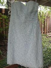 Davids Bridal Short Lace Dress Pale Blue 8