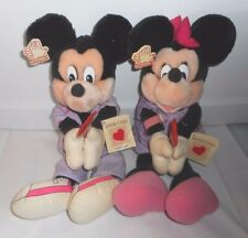 VINTAGE MICKEY & MINNIE MOUSE PALS APPLAUSE LOLLIPOP STUFFED ANIMAL PLUSH TOY
