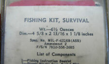 Army Aviation Fishing Kit, survival, Spec MIL-F-62188, Vietnam War era???