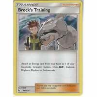 55/68 Brock's Training   Rare Holo Card   Pokemon Trading Card Game Hidden Fates