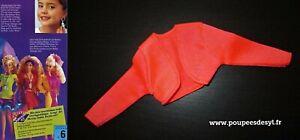 VINTAGE BARBIE veste orange fluo jacket - EARRING MAGIC FASHIONS - 1992