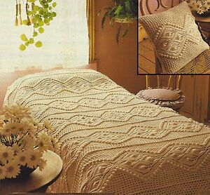 Cushion and Bedspread Knitting Pattern Beautiful Lace design DK 818