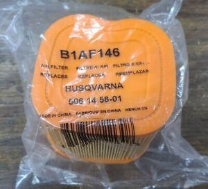 B1AF146 AIR FILTER, HUSQVARNA 506145801 BRAND NEW! FREE SHIPPING!