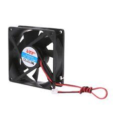 2-pin 12v 80x80x25mm PC Computer CPU System Heatsink Brushless Cooling Fan 8025