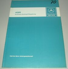 Werkstatthandbuch Mercedes W 126 S-Klasse ASR Antriebs Schlupf Regelung 08/1987!