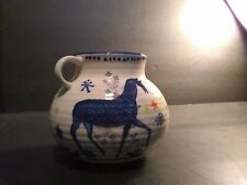 New ListingGather Round Hand Painted Pottery Jug . Small